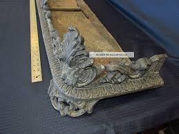 antique cast iron fireplace fender platform victorn mantle surround