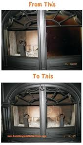 clean wood stove glass before and after wood stove glass door cleaning cleaning wood fireplace glass