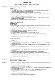 Product Support Resume Samples Velvet Jobs