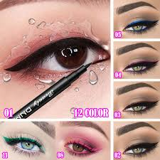 DNM 1pc <b>12 Colors Matte Liquid</b> Eyeliner Pencil Durable Natural ...