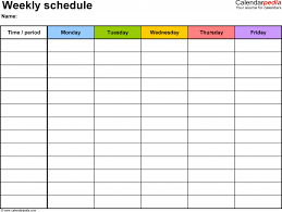 Daily Time Table Daily Schedule Template L Calendar Planner Download