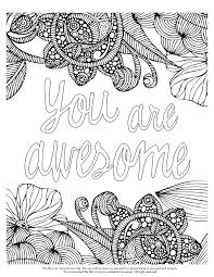 Small Picture Quote coloring pages you are awesome ColoringStar
