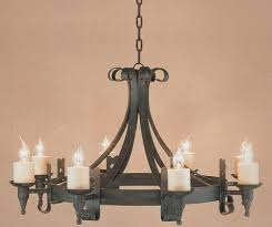 cromwell black 8 light gothic wrought iron cartwheel chandelier