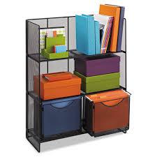 Fold Up Shelf Amazoncom Safco Products 6240bl Onyx Mesh Fold Up Shelving