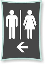 restroom directional sign. Restroom Directional Sign O
