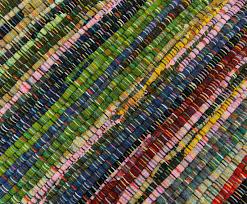 cotton chindi rug throw hand woven rag dari floor runner