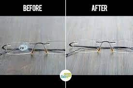 to remove super glue from eye gles