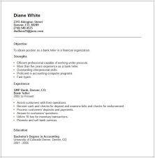 Good Bank Teller Resume Examples No Experience Best Sample Resume