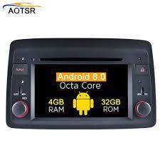 Ram 4G Android 8.0 Dàn Âm Thanh Xe Hơi Dvd Headunit Cho Fiat Panda 2004 +  Tặng Máy Nghe Nhạc Đa Phương Tiện Tự Động Vô Tuyến GPS điều Hướng Octa Core  BT|