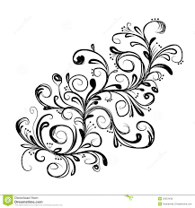 Floral Sketch Designs Abstract Floral Branch Sketch For Your Design Stock Vector