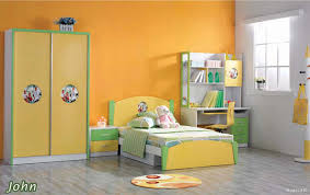 bright paint colors for kids bedrooms. Bright Children Room Idea With Sunny Yellow Wall Paint Color And Single Bed Closet Colors For Kids Bedrooms