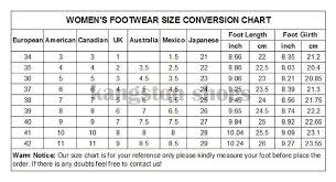71 Meticulous Shoe Size Chart Euro To India