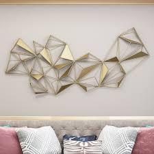 Indoor tile wall ceramic geometric pattern japanese geo. 3d Abstract Geometric Golden Metal Patterns Wall Decor Decor