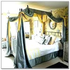 Queen Bed Canopy Canopies Bedroom Set Size With Curtains Frame