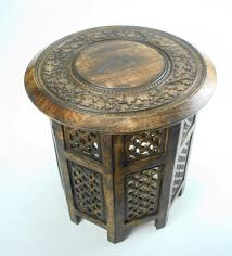 Indian Coffee Table Hand Carved Round Coffee Table Coffee Addicts