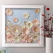 pink white 3d wall art decor