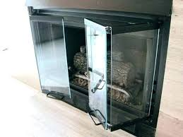 gas fireplace glass doors gas fireplace covers