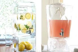 3 gallon glass beverage dispenser with stand drink dispensers for summer home improvemen