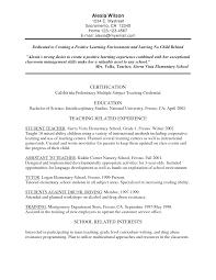 Teaching Resume For New Teacher Qhtypm No Experience Cover Letter