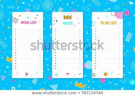 Note Do List Wish List Organizer Stock Vector Royalty Free