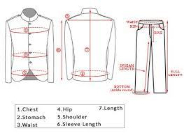 Mens Suit Measurements Samyakk