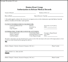 Medical Records Template Medical Records Release Form Template Generic 20 Awesome Request For