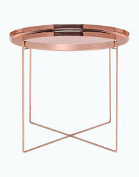 rose gold side table copper table pure and minimal design table furniture copper side rose gold