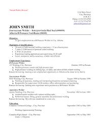 Welder Resume Objective Resume For Welder Resume For Welder Photo Welder  Resume Objective