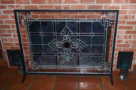 fireplace glass doors with screens peacock screen houston antique fender magnetic covers guards solid brass other uses ventless gas installation outdoor