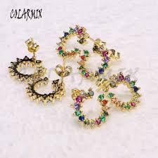 <b>5 pieces</b> Wavy line <b>rings</b> Zircon <b>rings</b> mix colors zircon stone <b>rings</b> ...