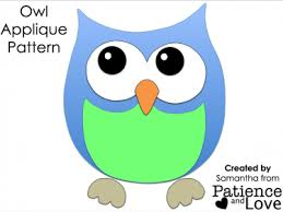 Owl Pattern Delectable Owl Applique Pattern Meylah