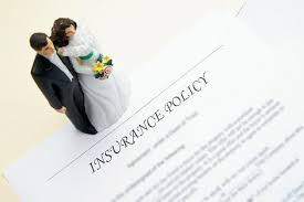 should i take out wedding insurance? confetti co uk Wedding Insurance Marquee bride and groom figures and insurance policy wedding insurance marquee cover