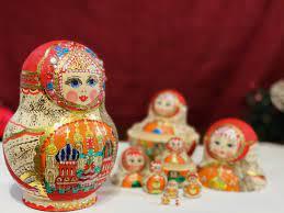 Búp bê Nga Matryoshka gỗ, vẽ thủ công 10 con 10BB002