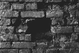 black brick destroy hole old ruins wall wasted 4k wallpaper and background