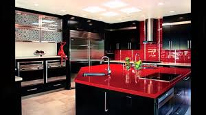black and red kitchen designs. White Black And Red Kitchen Design Youtube Designs U