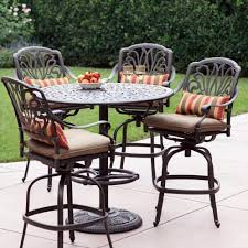 bar height patio chair: darlee elisabeth  piece cast aluminum patio bar set with swivel bar stools