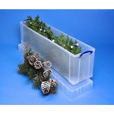 Really Useful Box Stackable Storage Box 22 L 820 x 255 x 155 mm Clear   Staples