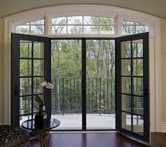 stunning interior french door glass interior exterior sliding french door in black and round glass