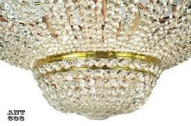 crystal semi flush mount chandelier crystal semi flush mount ceiling light large diameter vintage chandelier ant