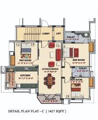 3 Bedrooms Duplex Floor Flats Plan Design Photos Of Casagrande Flat C