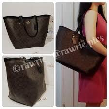 Coach Bags - New Coach large signature brown black tote