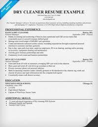 Dry Cleaner Resume Resumecompanion Com Resume Samples Across