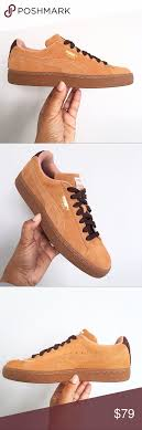 Puma Classic Casual Suede Brown Unisex Shoes Brand New No