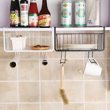 new creative iron cupboard hanging basket closet shelf hook cabinet storage rack holder kitchen organizer holder