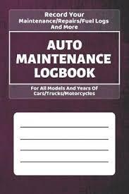 Auto Maintenance Logs Auto Maintenance Log Book Golden Lifestyle Press Book In