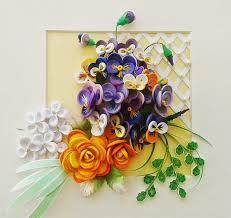 Paper Quilling Flower Bokeh Paper Flower Bouquet Flower Botanical Art Floral Art Wall