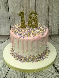 18th Birthday Cake Fondant Covered Vanilla Sponge Cake Top Flickr