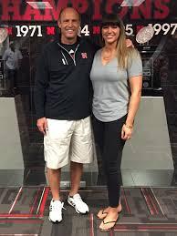 Rape survivor Brenda Tracy meets Nebraska coach Mike Riley