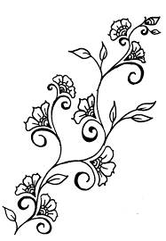 Small Picture Drawings of rosd vines Henna inspired Design Ideas leaves and