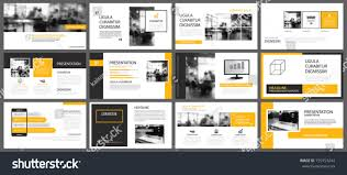 Yellow Presentation Templates Infographics Elements Background Stock ...